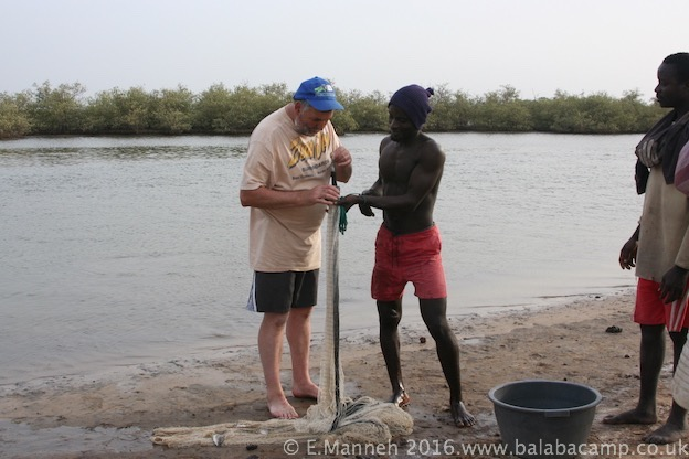 Learning how to fish the traditional way