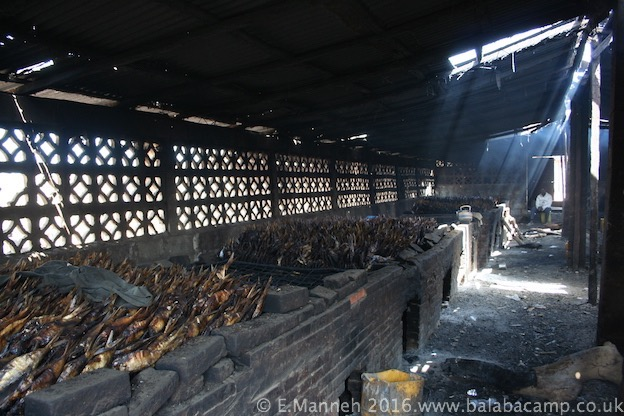 A traditional smoke house at Gunjur fishing village